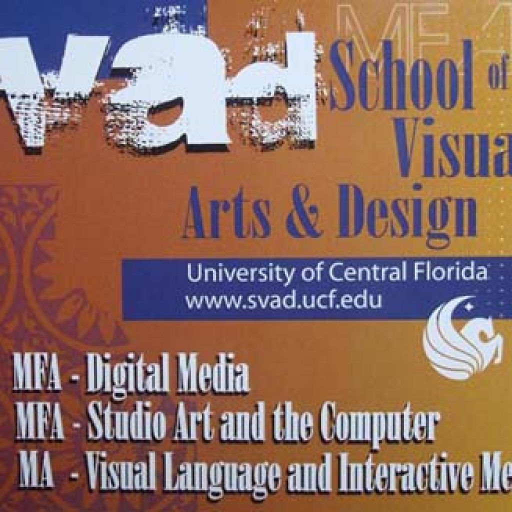 UCF School of Visual Arts and Design Postcard
